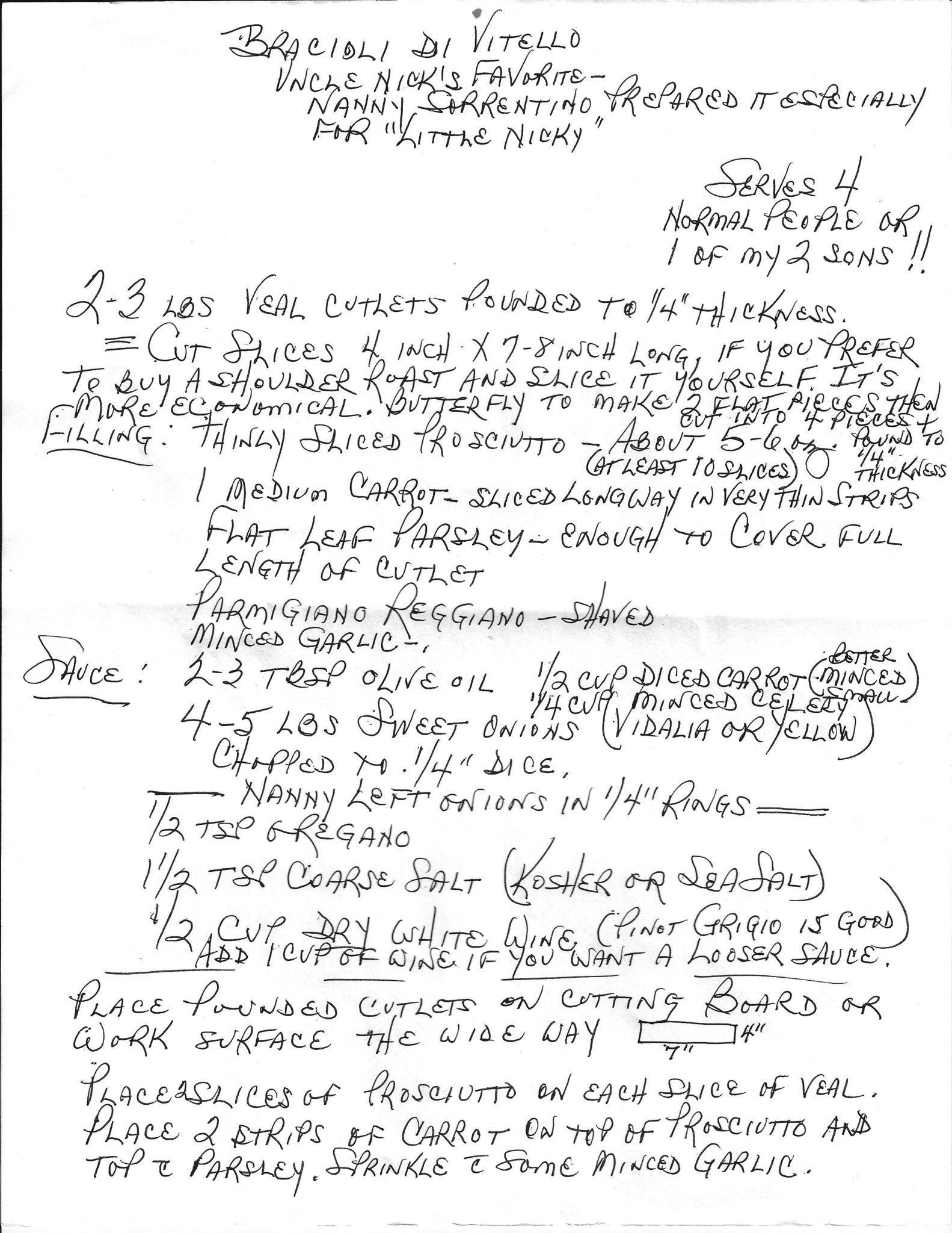 Photo of Nanna's Veal Braciole – Authentic Italian Recipes | Italian Genealogy