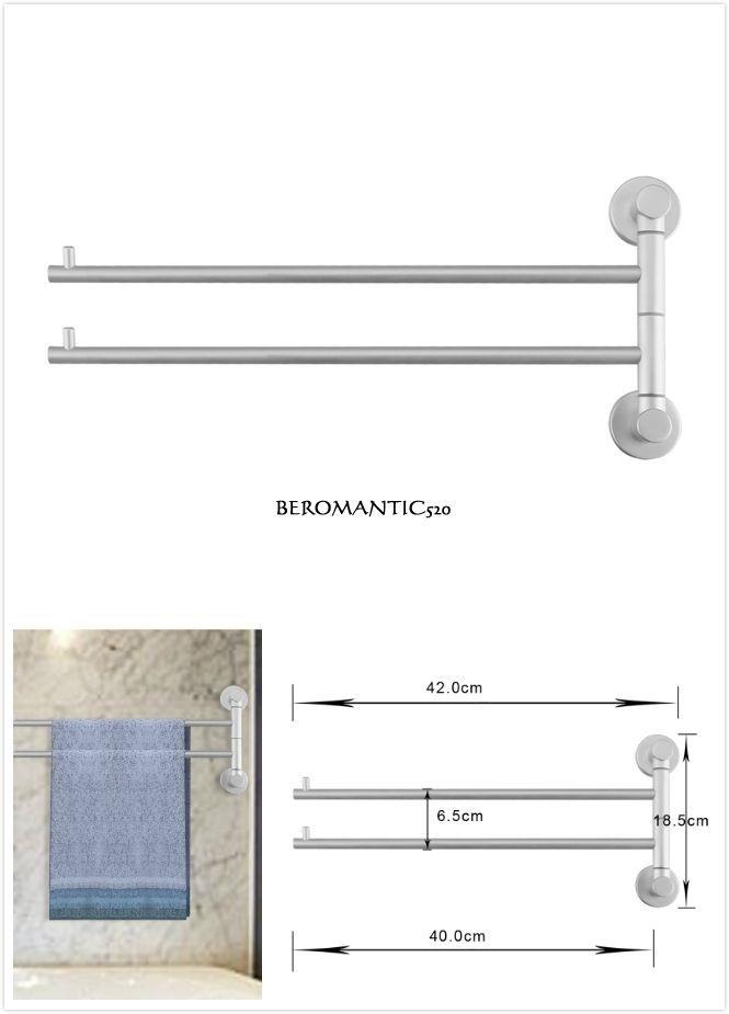 40 cm Doppel Handtuchhalter Handtuchstange Handtuch Stange