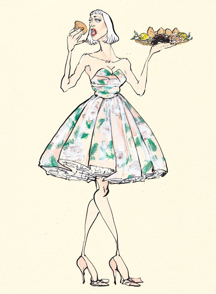 Lucio Palmieri feauring Dolce&Gabbana  - When the 7 deadly sins are dresses in high fashion. Gluttony, cupcakes and roses.