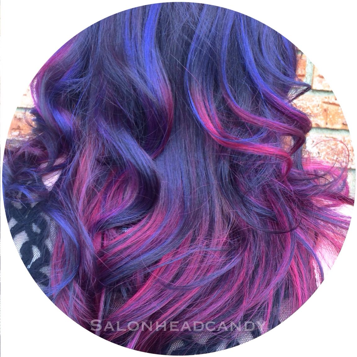 AMAZING purple to pink color melt by Tina!! Keep an eye out for lots more images of this awesome color coming soon, including an unbelievable before & after!! She used our new line of fantastic colors by Arctic Fox- you MUST come try these colors!!! #salonheadcandy #balayage #purplehair #arcticfoxhaircolor