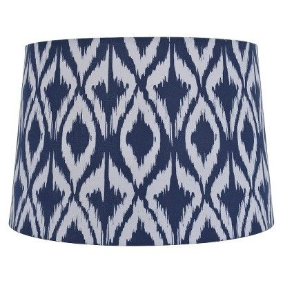 Threshold™ Diamond Ikat Print Lamp Shade (also in teal and gray)