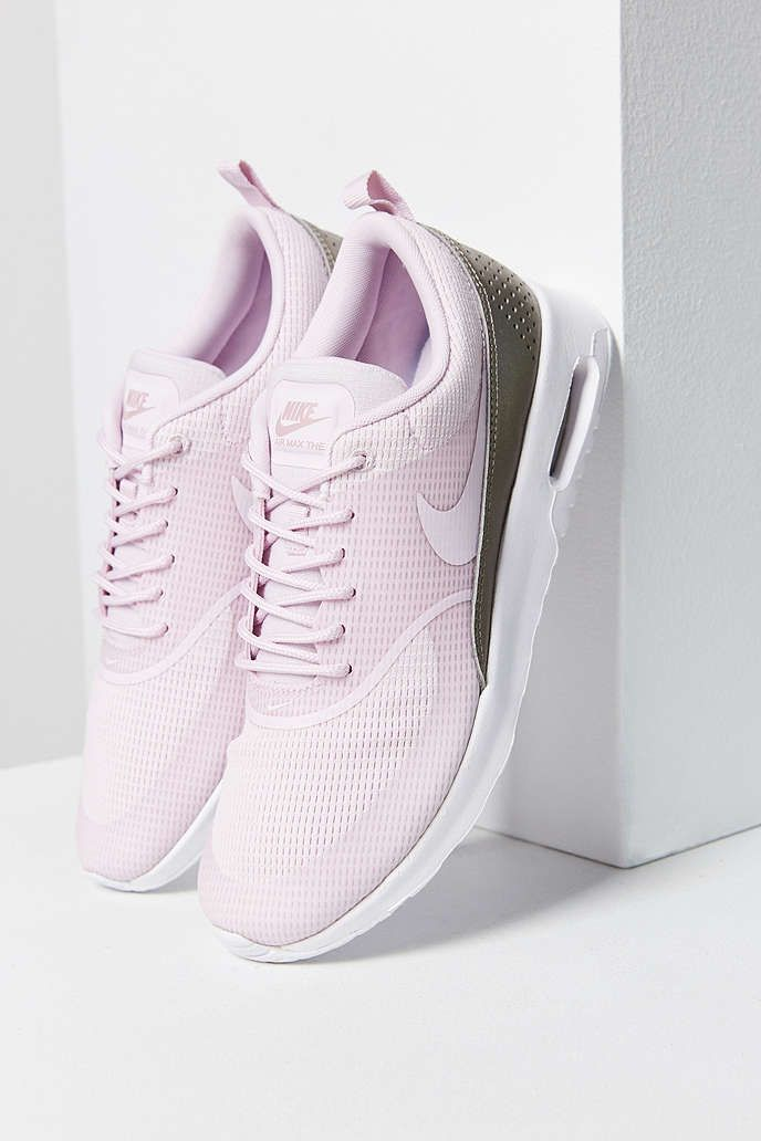 buy online 64a33 e5283 Nike Air Max Thea Textile Sneaker - Urban Outfitters Peach Shoes, Nike Thea,  Air