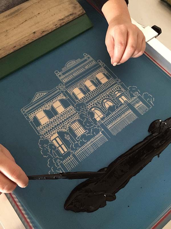 screen printing Melbourne terrace houses