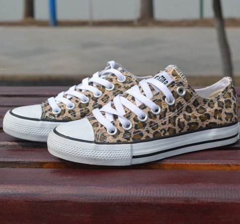 4ef0d411ed33 Leopard control casual canvas shoes someone my bday is in may and christmas  is right around the corner. Leopard Shoes Leopard Print Converse ...