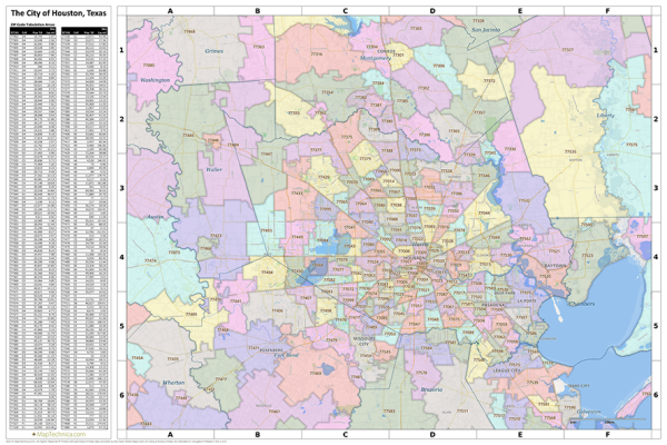 Greater Houston Area Zip Code Map.Greater Houston Zip Code And County Maps Pinterest Zip Code