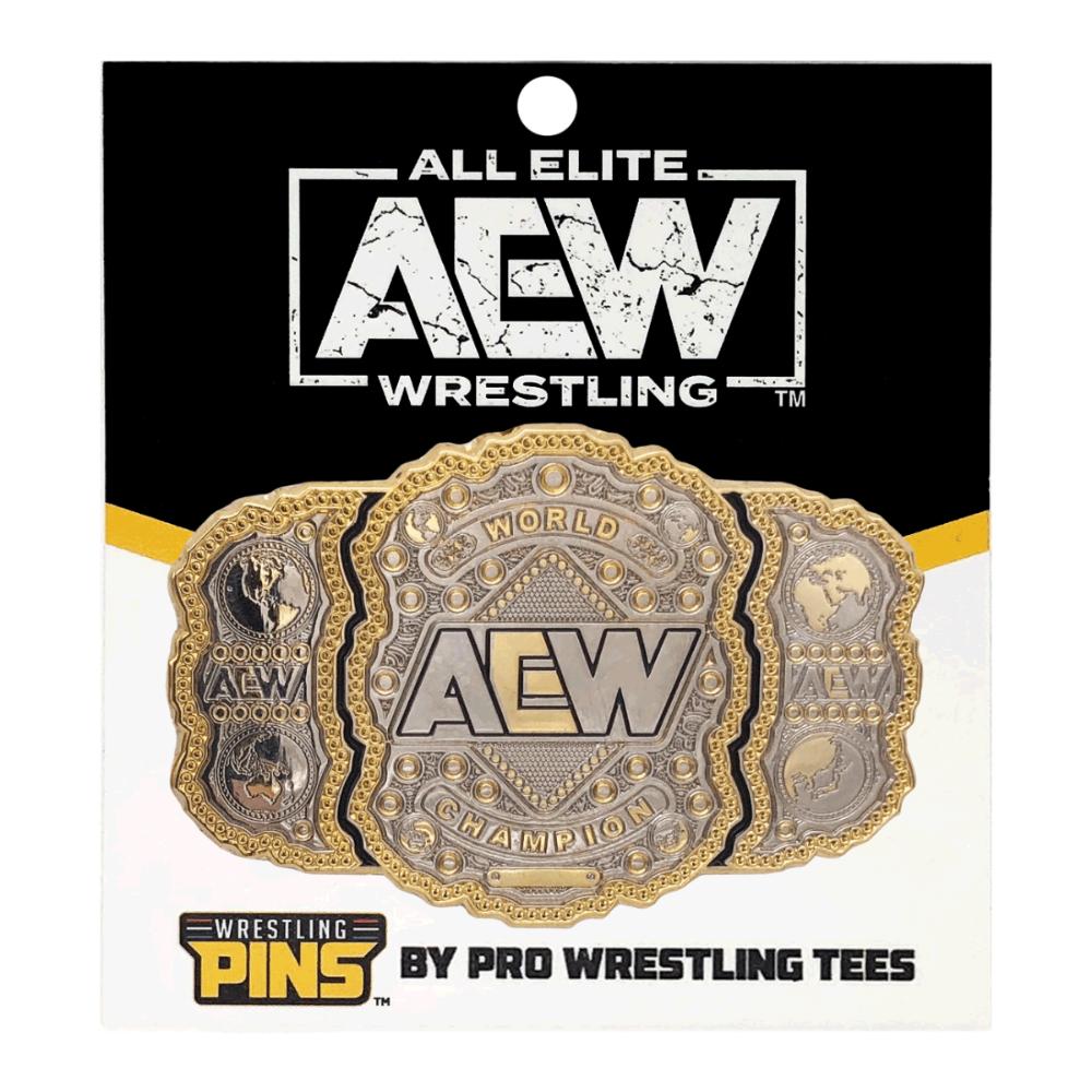 Aew World Championship Wrestling Belt Pin Oversized 2 75 X 1 8 World Championship Wrestling World Championship Wrestling