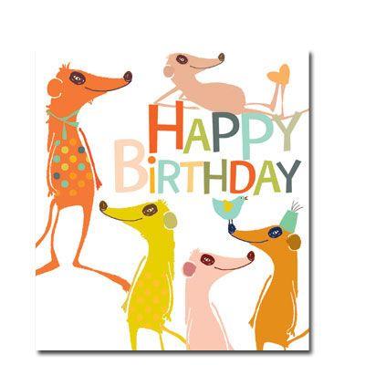 Meerkats Birthday Card Karenza Paperie Birthday Wishes Pinterest