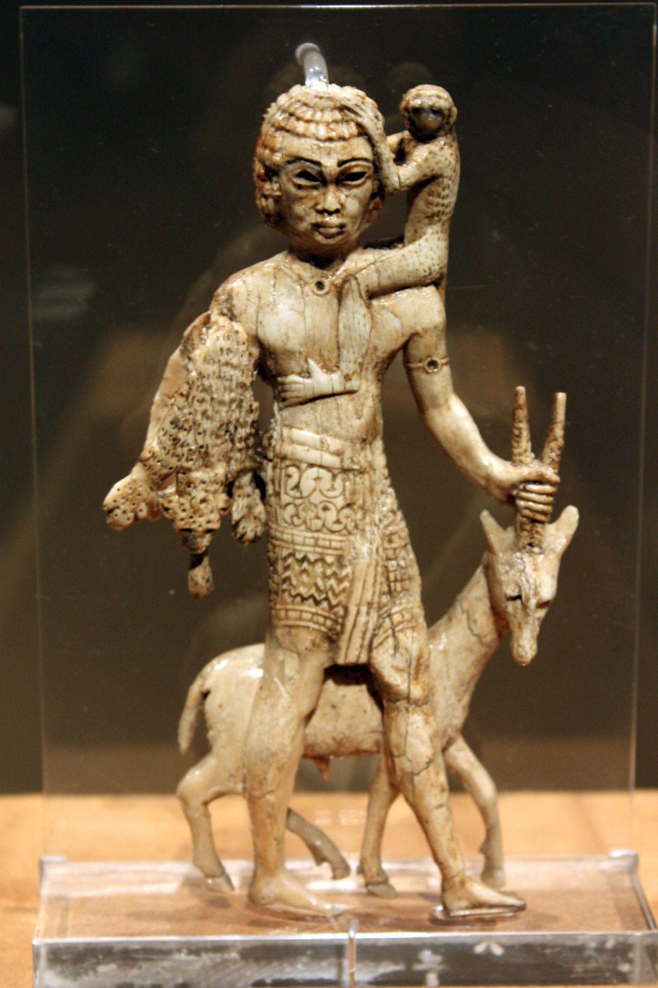 ancientart: Nubian tribute bearer with an oryx, a monkey ...