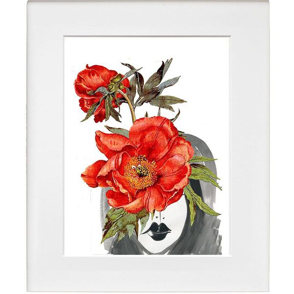 Look through the Flowers 2- Mixed media Decorative art, Flower... ❤ liked on Polyvore featuring home, home decor, wall art, blossom wall art, mixed media wall art, flower poster, flower drawing and flower illustration