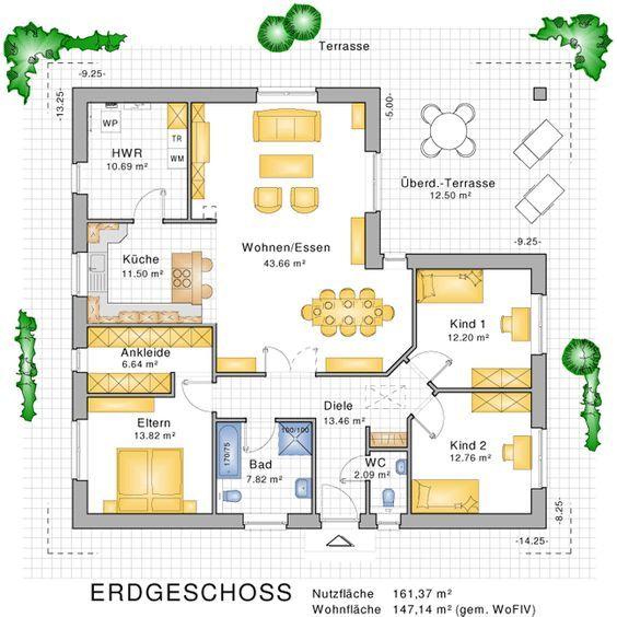 bungalows barrierefreies wohnen auf einer ebene bauunternehmen nagelbau gmbh haus. Black Bedroom Furniture Sets. Home Design Ideas