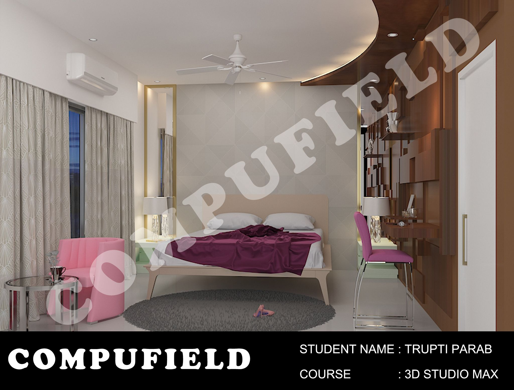 Interiordesigning Project Done By Our Student Ms Trupti Parab At Compufield Computer Institute Design Course Web Animation Institute