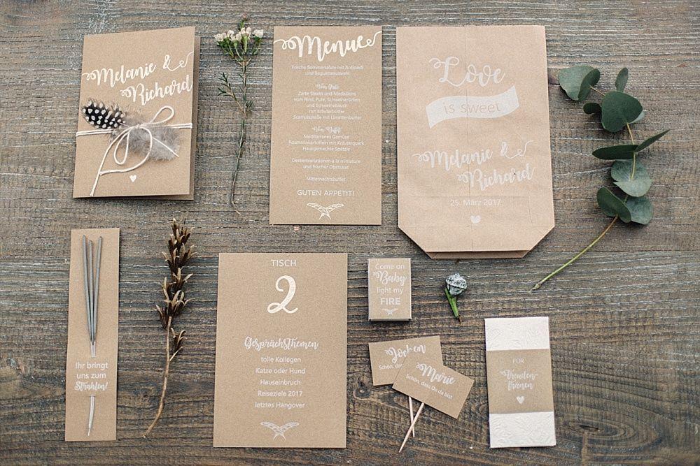 Hochzeitskarten Kraftpapier Lassige Boho Hochzeit Mit Lichtern