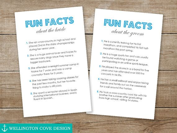 Fun Facts About The Bride And Groom Template Microsoft
