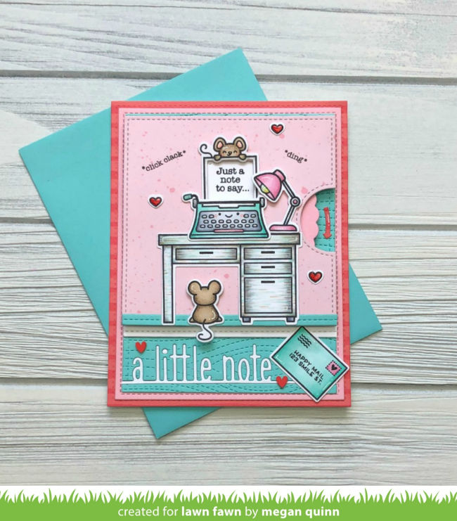 Lawn Fawn Love n Breakfast Love Letters Clear Stamps Die Sets Valentine/'s Day