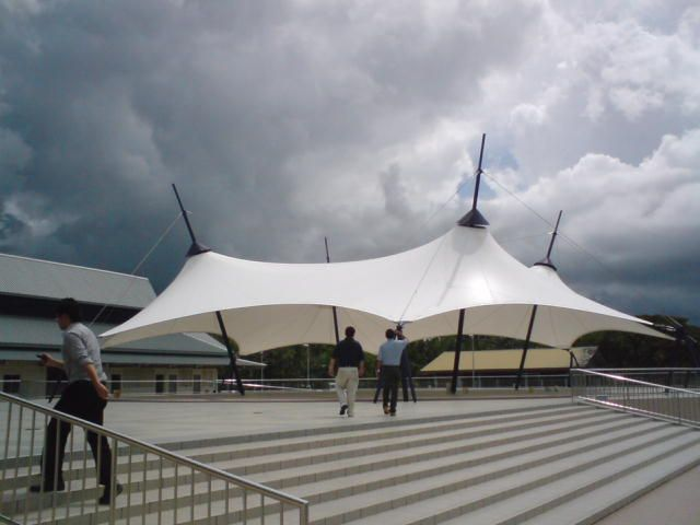 TI Tensile Structures manufacturers of Metal frame supported tensile structure / roof / with PVC membrane & TI Tensile Structures manufacturers of Metal frame supported ...