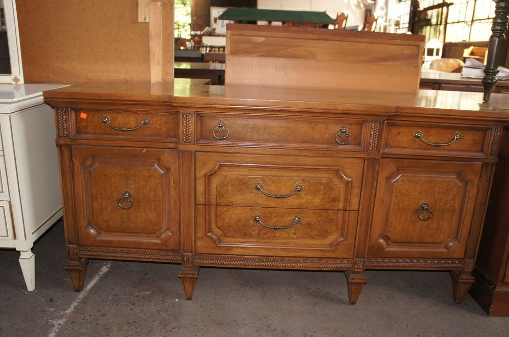 Antique Mount Airy Table Co Credenza Sideboard Buffet Dresser North Carolina