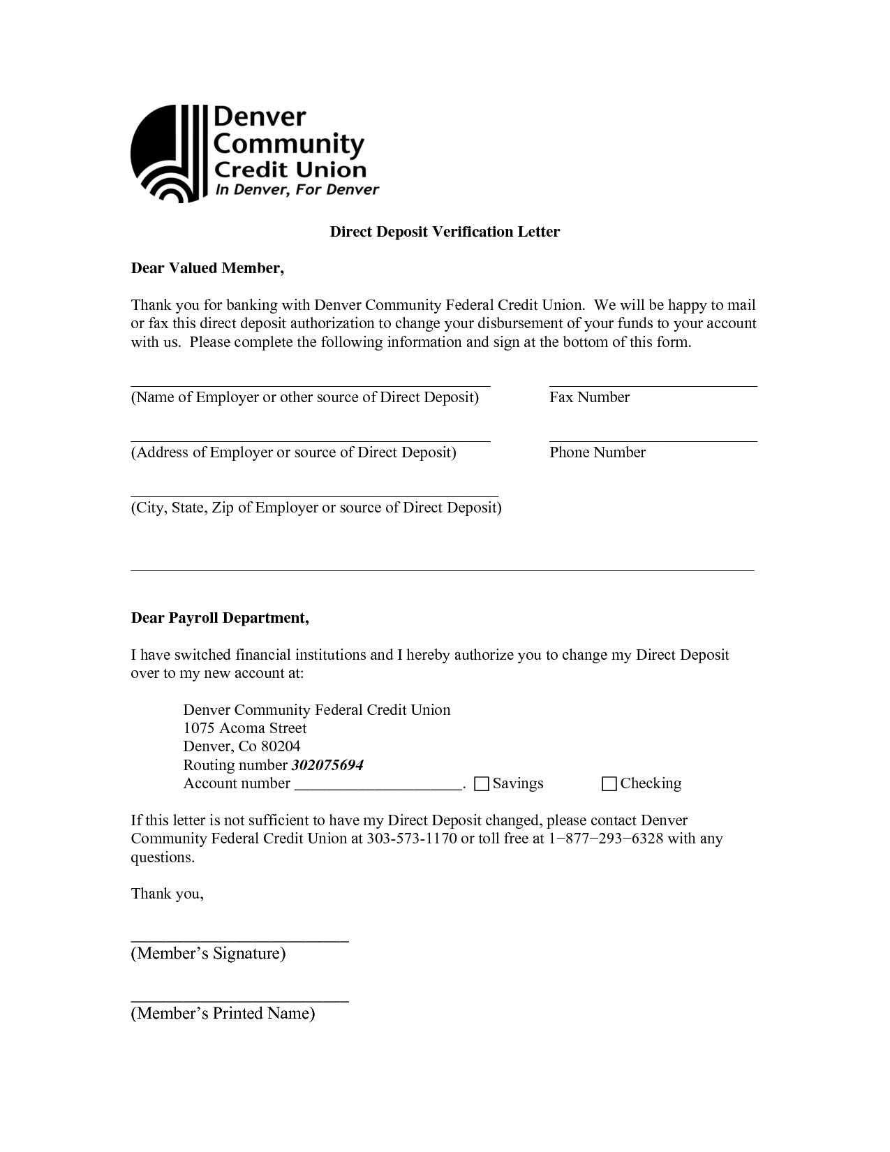 Bank Verification Letter Sample Account Authorization Printable