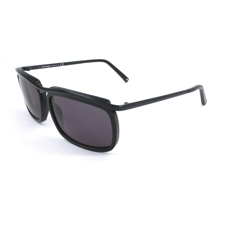 Dsquared2 // Men's DQ0117 Polarized Sunglasses // Shiny Black + Smoke