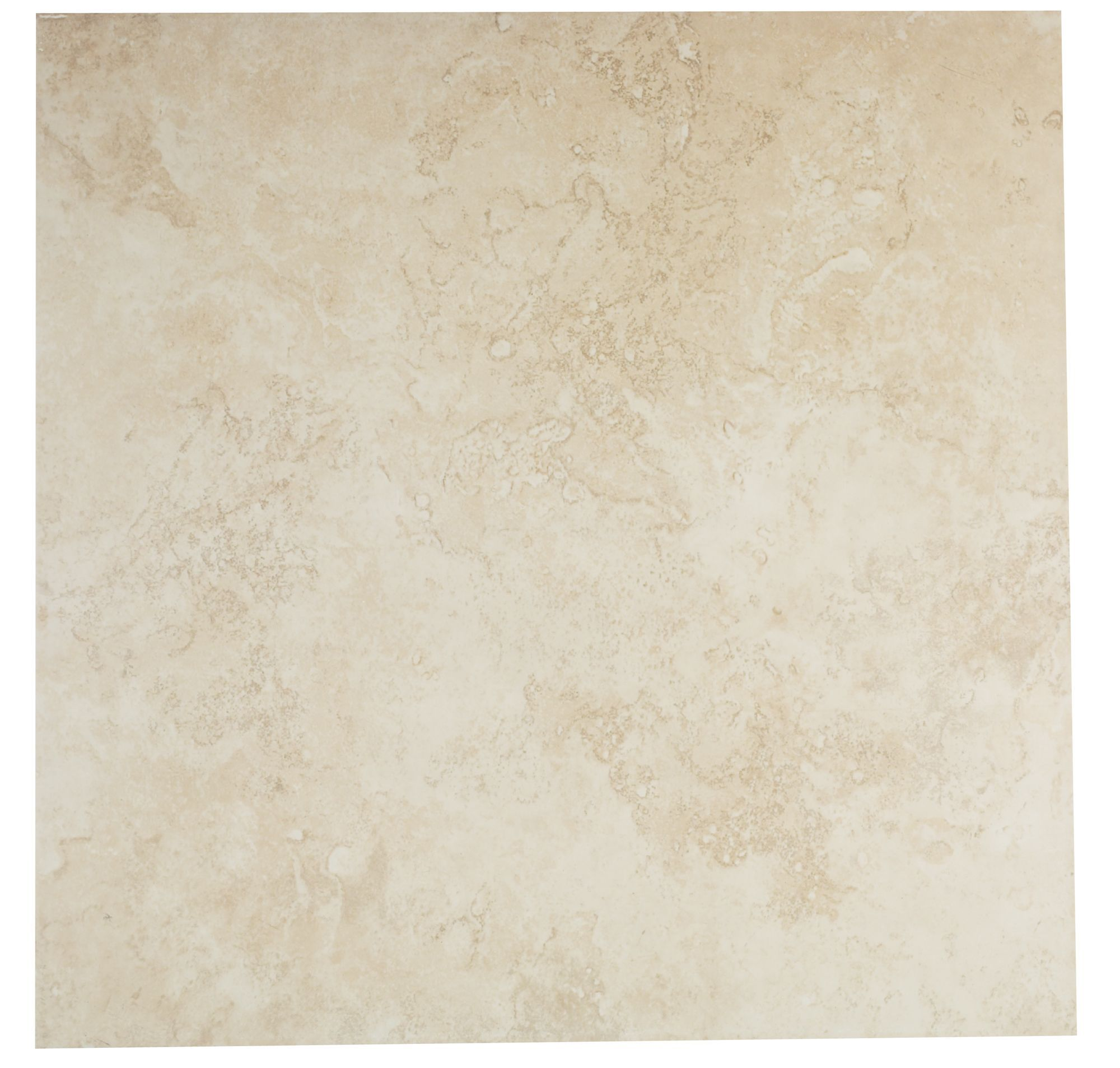 castle travertine cream ceramic wall & floor tile, pack of 5, (l