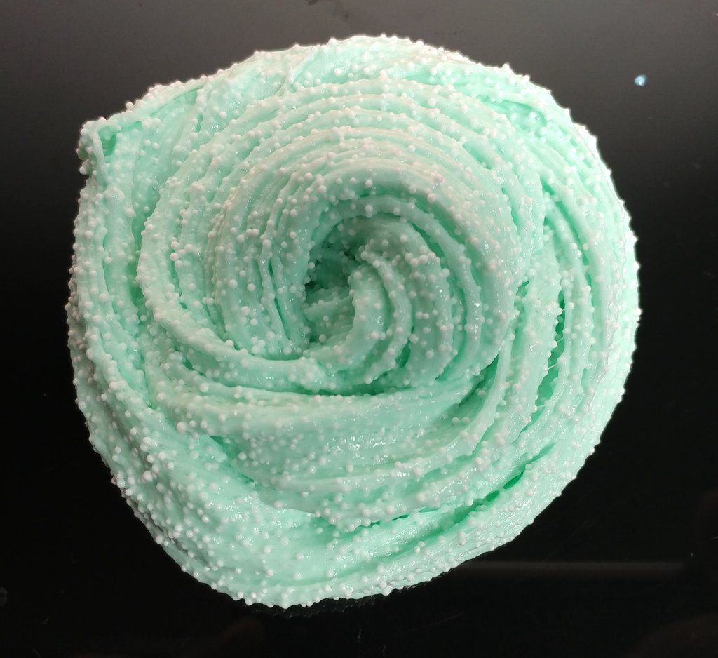 Melted Mint Green Fluffy Floam