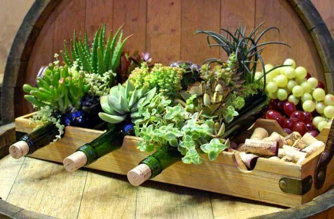 Resultado de imagen para jardines en troncos jardin for Plantas decorativas resistentes