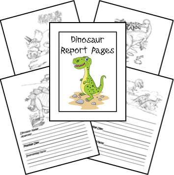 Free Creation Based Dinosaur Unit Study...dinosaur report