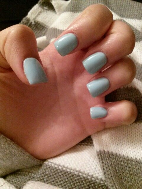 Baby Blue Gel Acrylics Short Nails Winter Nails Simple Nails Cute Nails Simple Nails Short Nails Art Clear Acrylic Nails