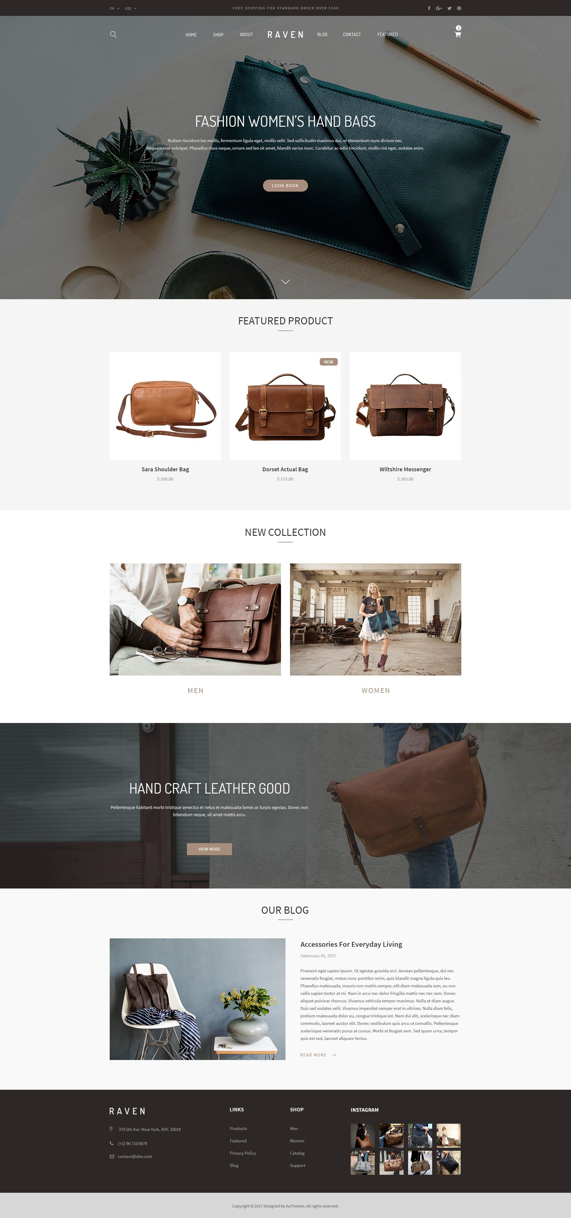 Raven   Handmade And Furniture Shop PSD Template