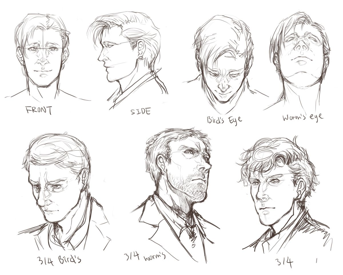 facial angles by on DeviantArt
