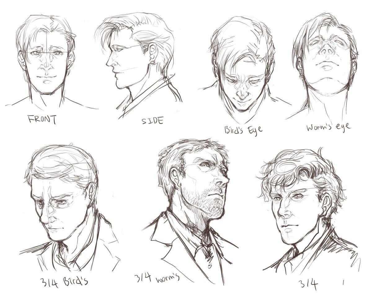 Facial Angles Realistic Drawings Face Angles Face Drawing