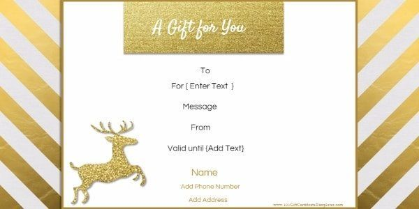 Christmas Gift Certificate Template - Christmas Gift Certificate ...
