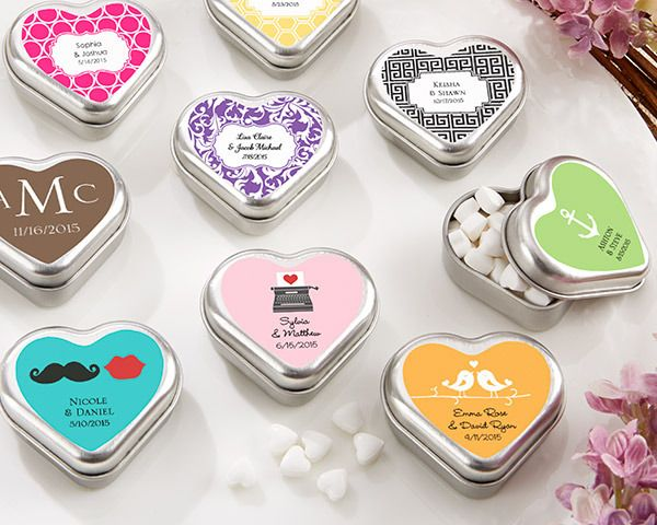 Personalised Mint For You Heart Shaped Tin Wedding