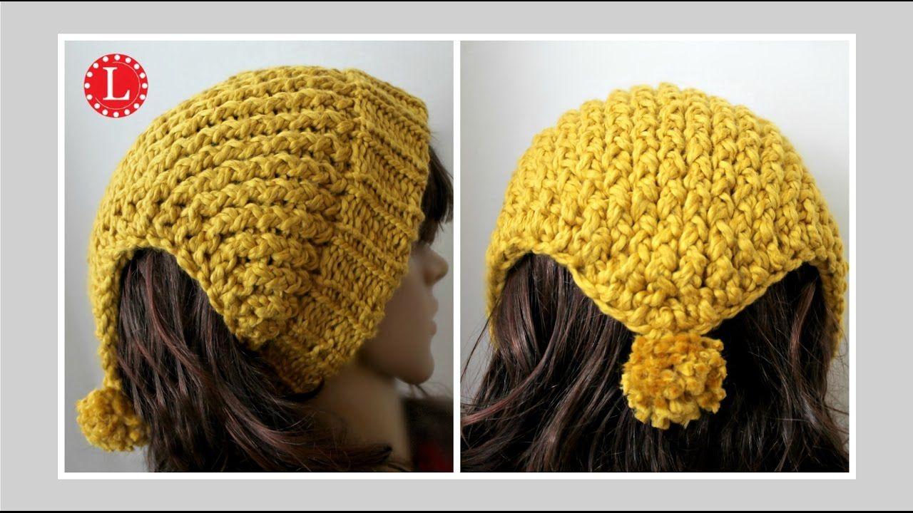 LOOM KNIT Headband Scarf - Ear warmer Hat on a round loom   Loom ...