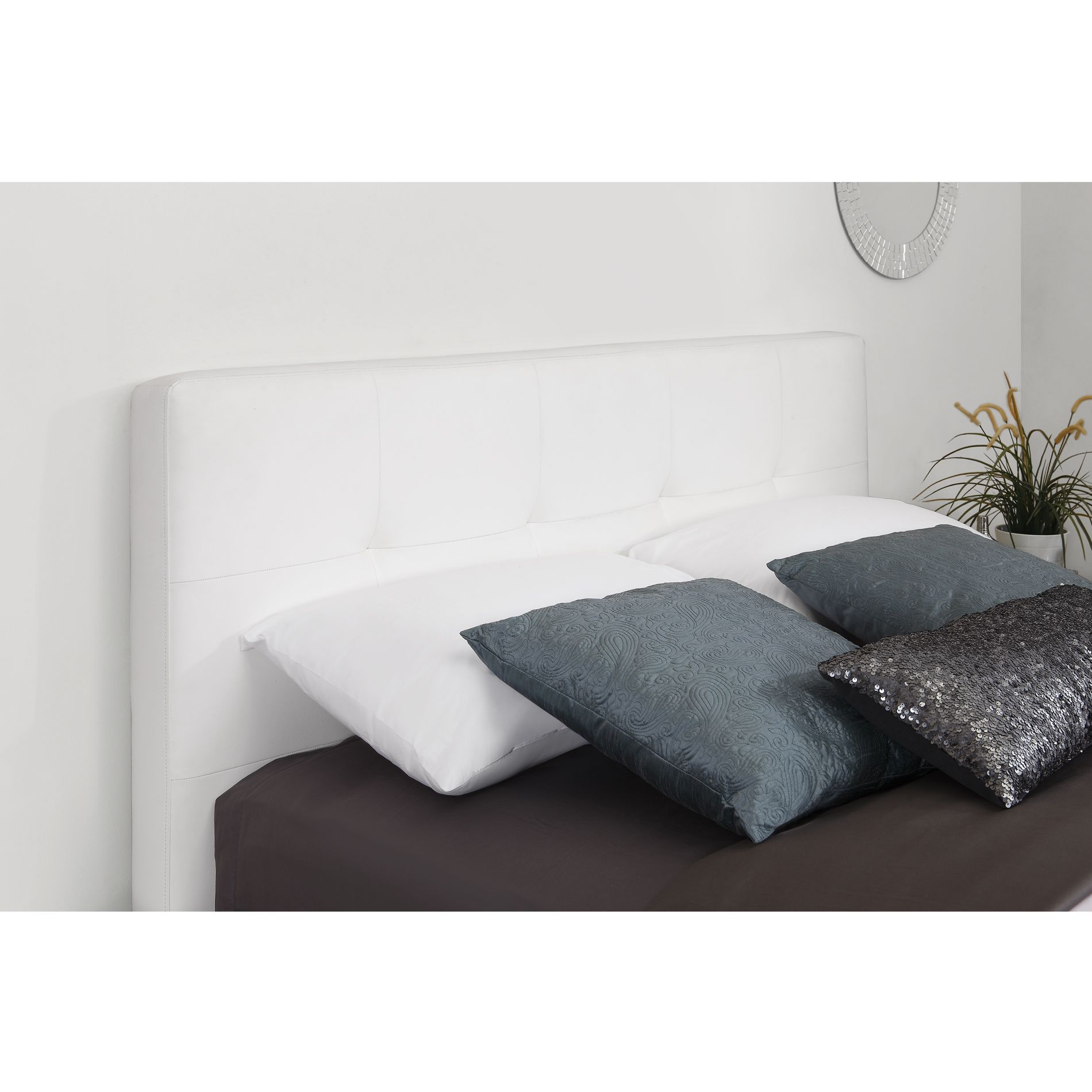 Dorel Signature Ashton White Headboard Available In Queen And