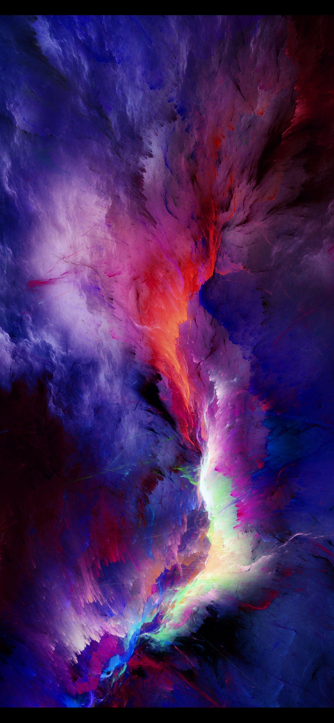 A Nebula Of Color Wallpaper Space Digital Wallpaper Watercolor Wallpaper Iphone