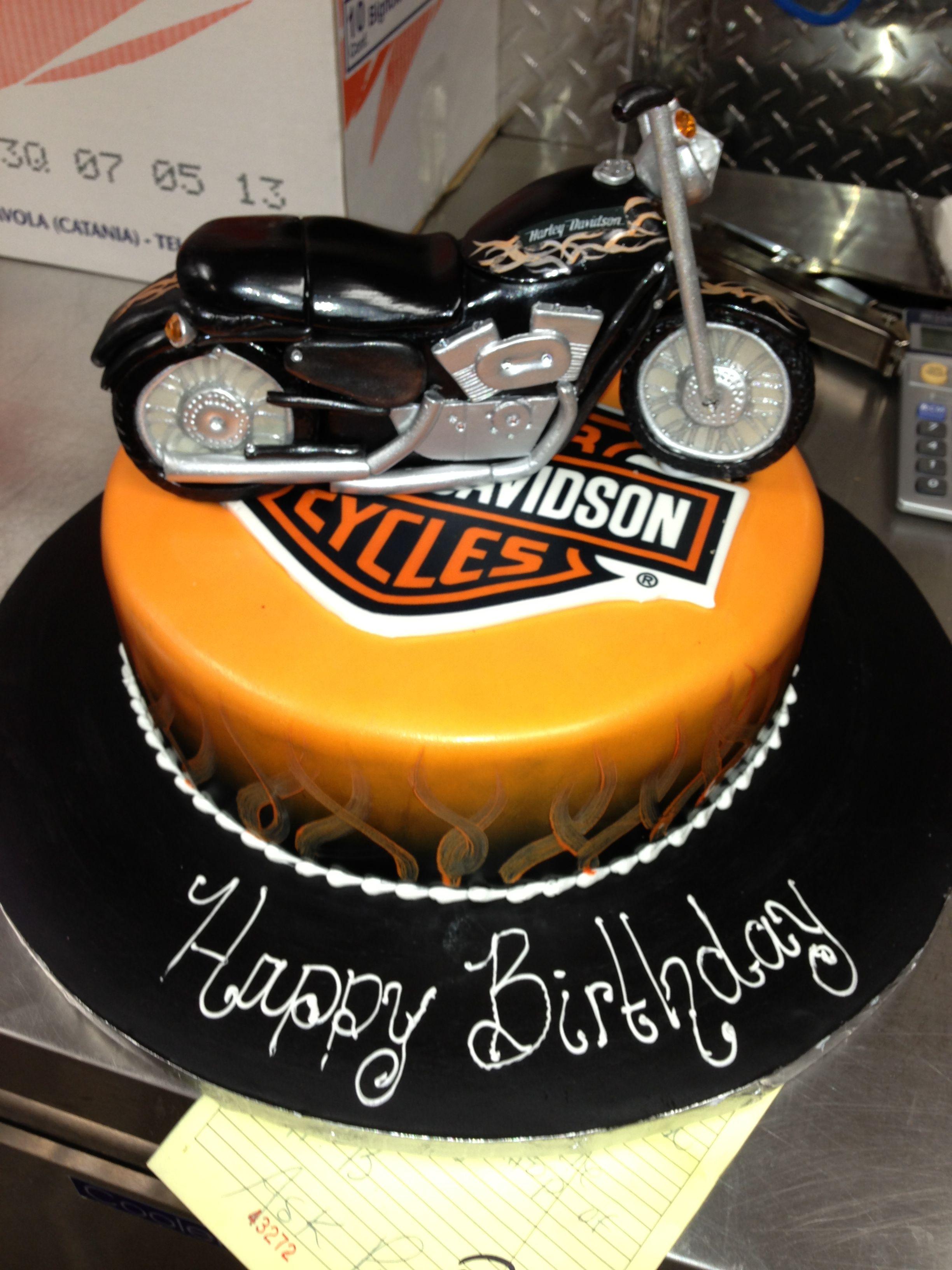 Harley Motorcycle Cake Cakes Motorcycle Harley