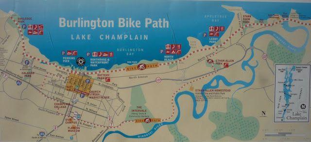 Map of Burlington Vt bike path Burlington Vt Bike Path Pinterest