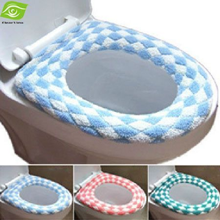 cushioned toilet seat covers. Hot Selling Winter Flocking Toilet Seat Cover Multi Color O Closestool Mat Padded  Warm