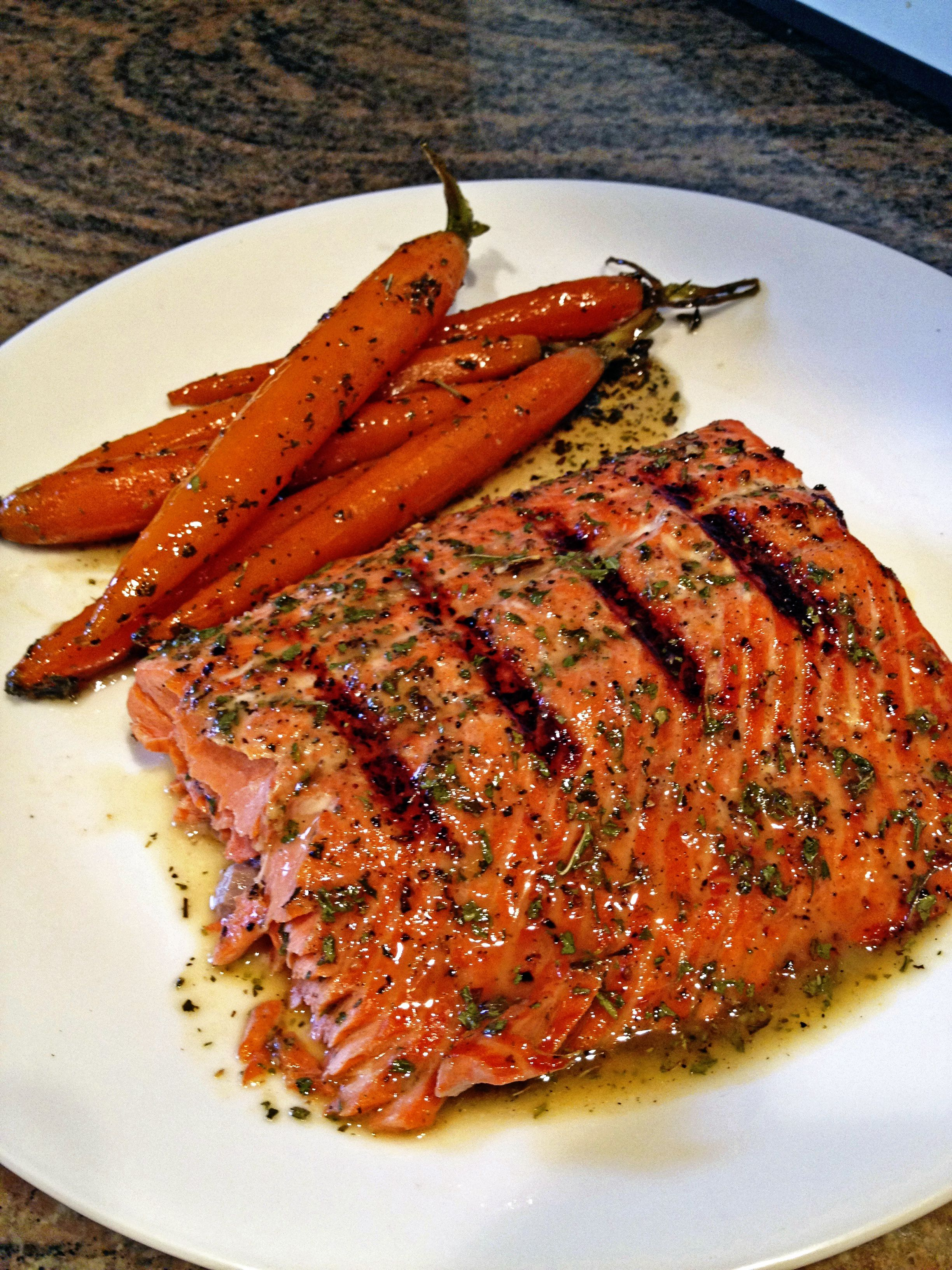 Grilled Glazed Wild Copper River Sockeye Salmon Keviniscooking