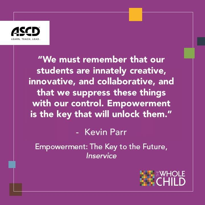 Kevin Parr writes that #student empowerment is the key to the future of #education.
