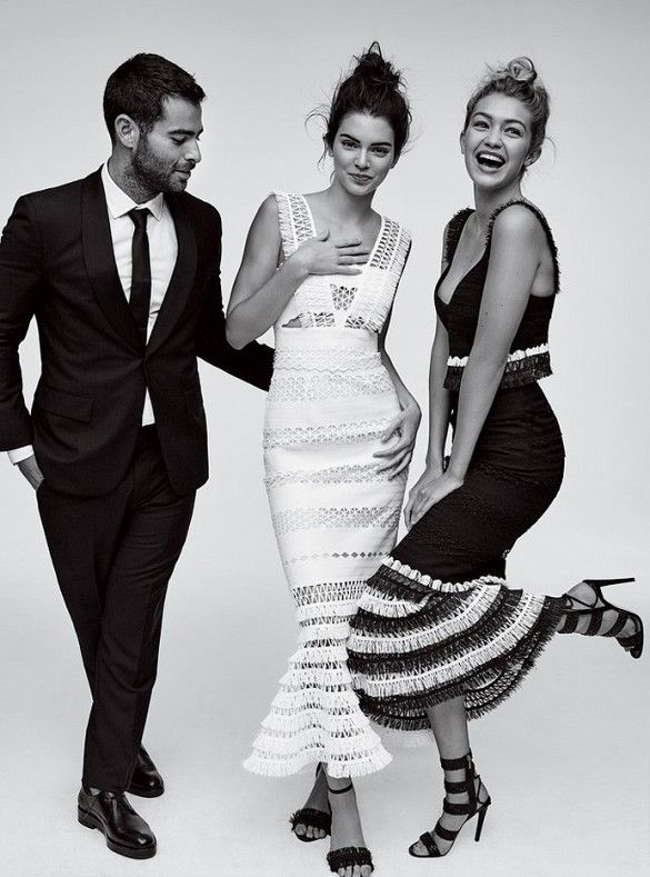 83641dff713 Kendall Jenner and Gigi Hadid wears Jonathan Simkhai dresses in Vogue  Magazine