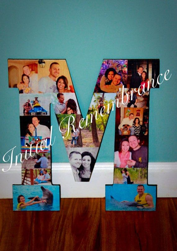 photo letter collage wedding birthday wooden picture custom personalized monogram 13 letter photo collage pet in loving memory sympathy anniversary