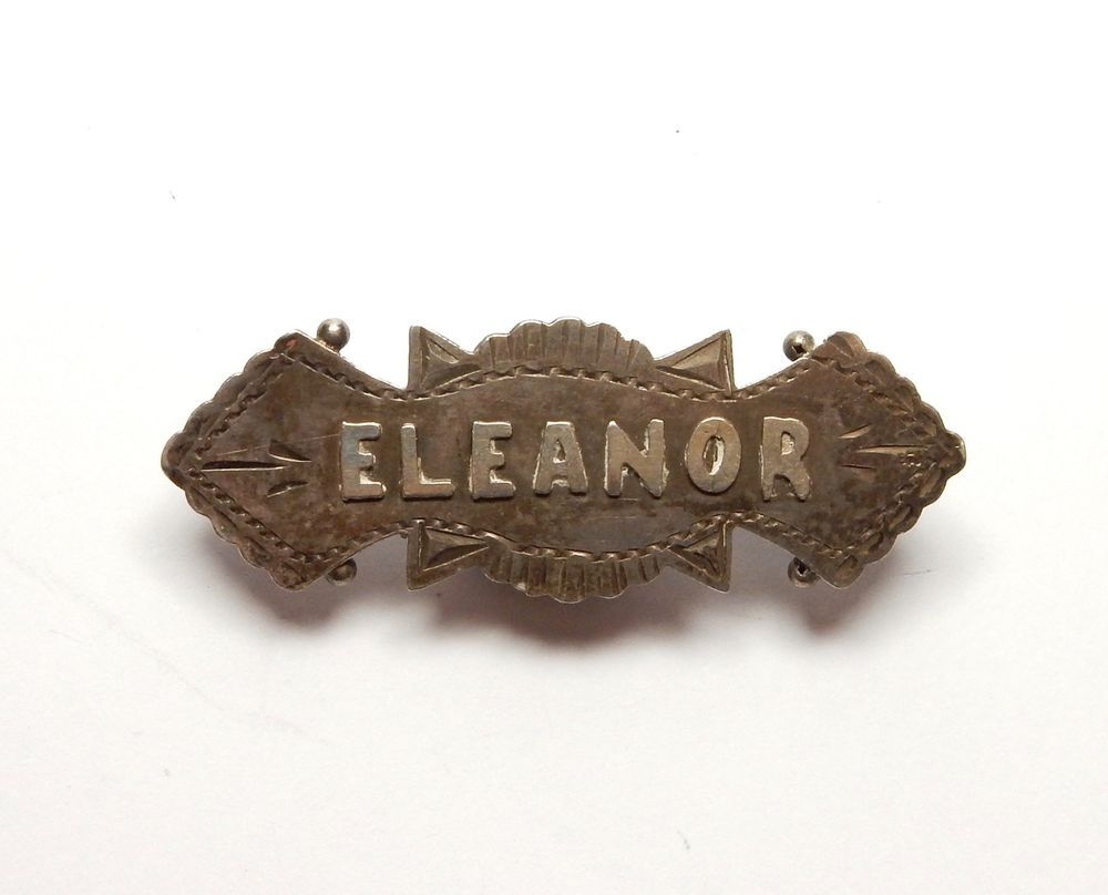 Vintage eleanor nameplates excellent