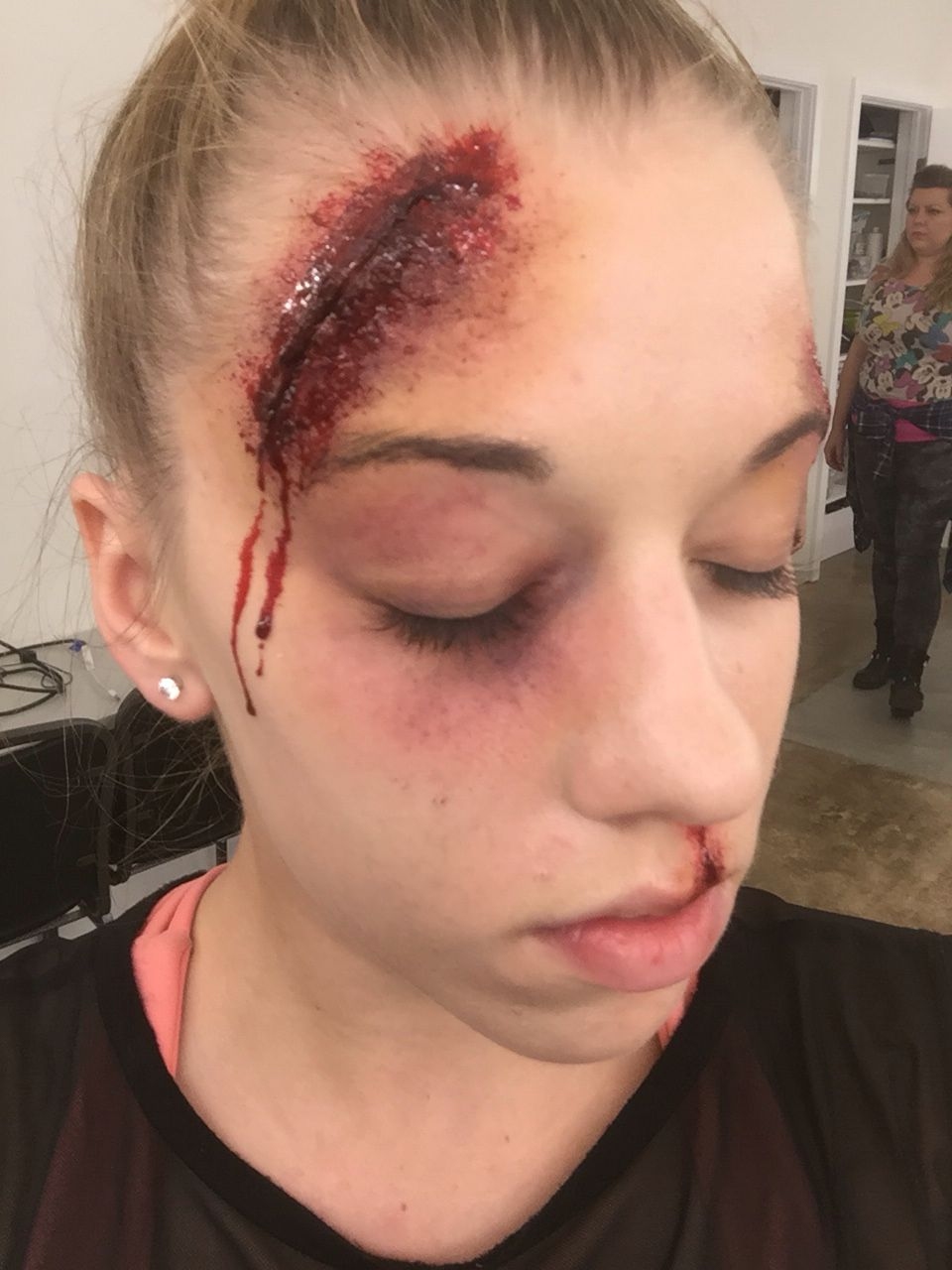 Fake Bleeding Makeup Cut With Bruised Black Eye M A K E U P