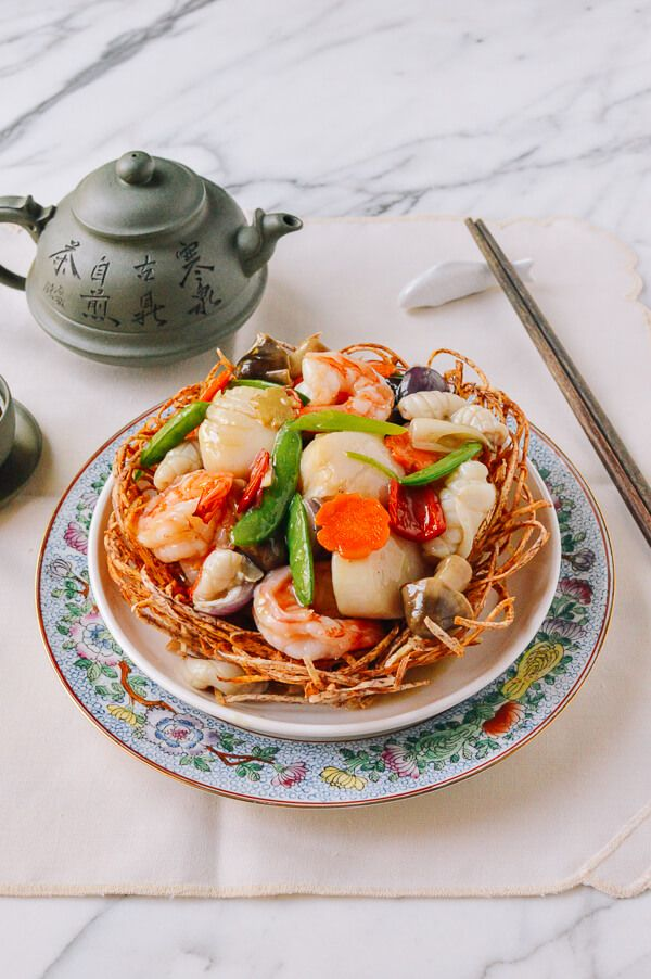 Chinese Seafood Bird Nest Recipe Cantonese Cuisine Seafood Recipes Recipes