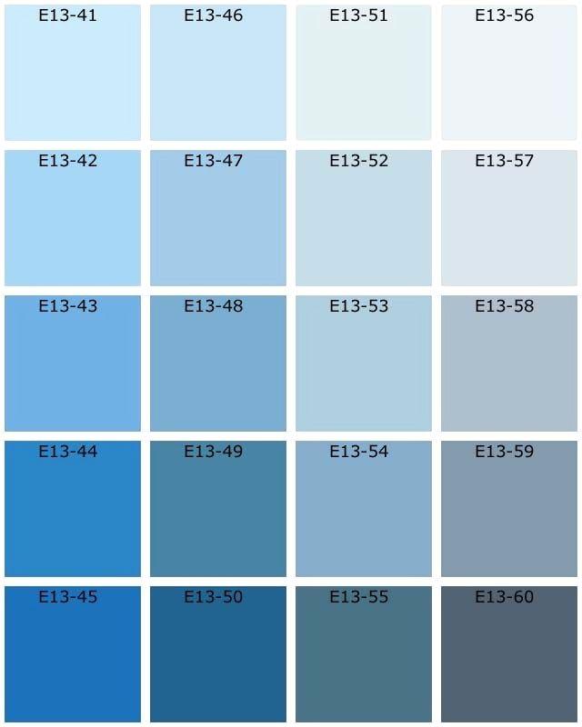 Nuancier Bleu Avec Nice Peinture Gris 7 Murale Et E13c 1000