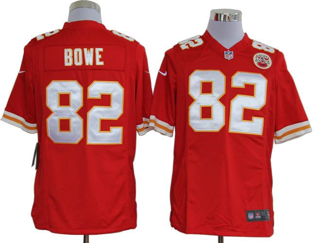 nike nfl game 82 red dwayne bowe kansas city chiefs jersey id8310494 23