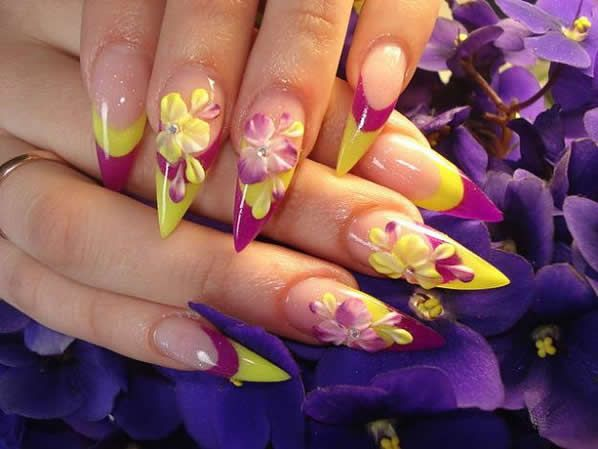 3d Nail Art Beautiful Flowers And Fruits With Images 3d Nail