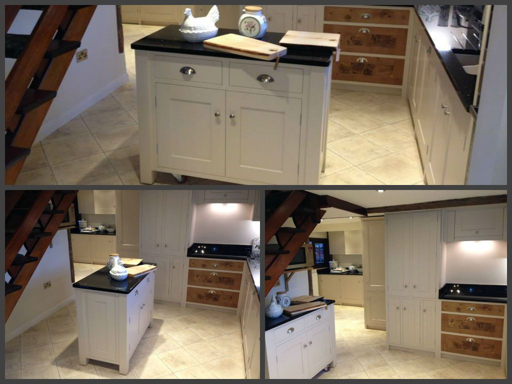 Bespoke Moveable Kitchen Island On Lockable