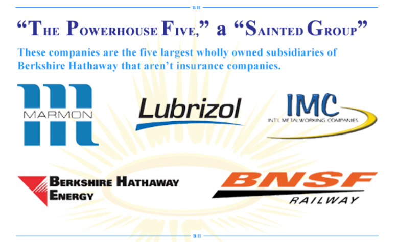 The Powerhouse Five The Street Warren Buffett Turn Ons Berkshire